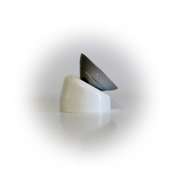 White 30 Degree Mount with 15 degree wedge